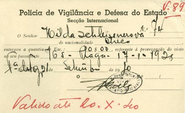 Hilda SCHLEISSNER Police Identity Card