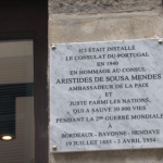 Consulat Bayonne ASM Plaque