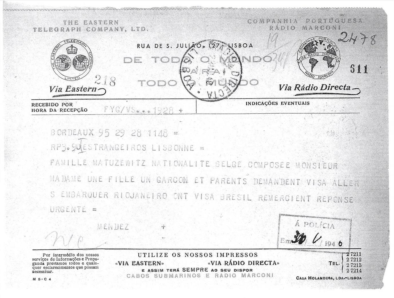 Visa request MATUZEWITZ