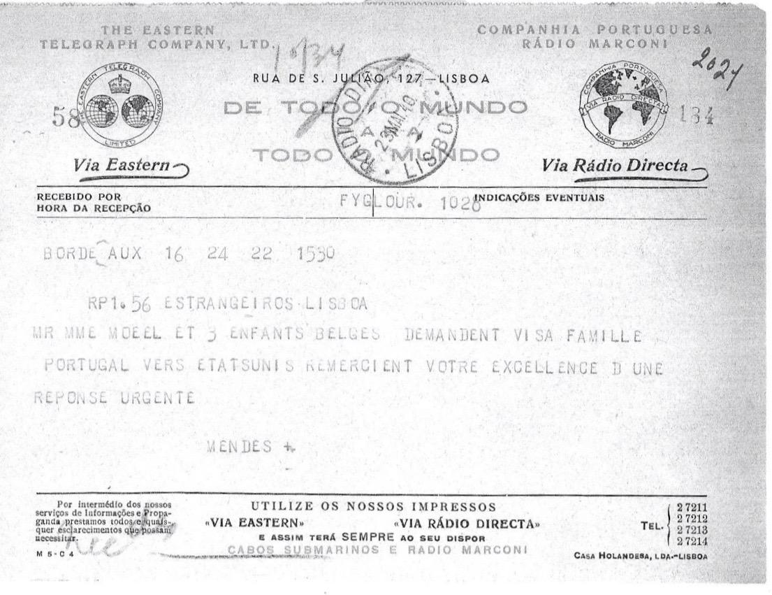 ASM telegram for Moed family