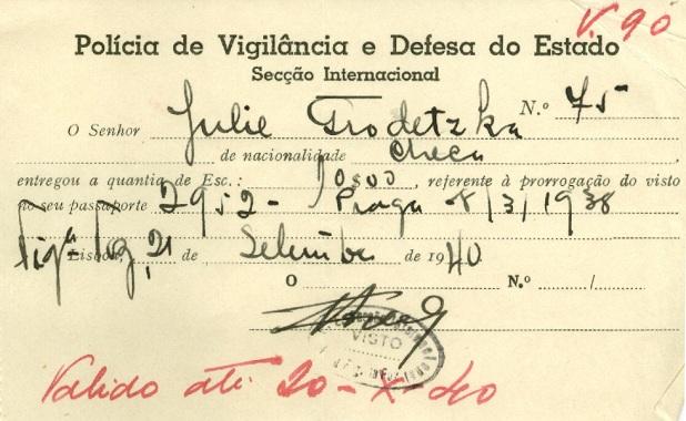 Julie GRODETZKA Police Identification Card