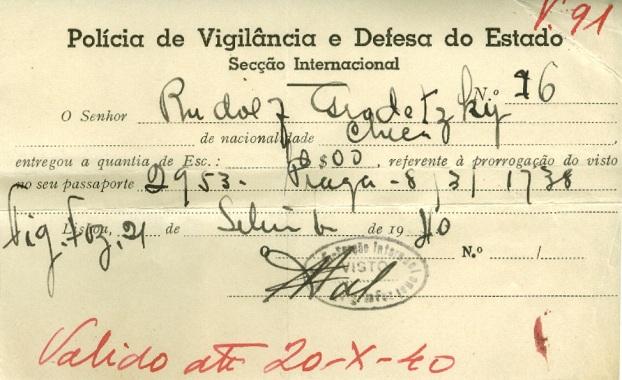 Rudolf GRODETZKY Police Identity Card
