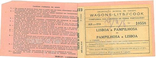 Train ticket to Lisbon