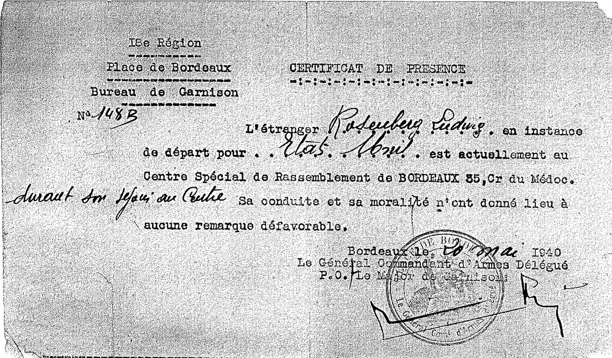 Ludwig Rosenberg document