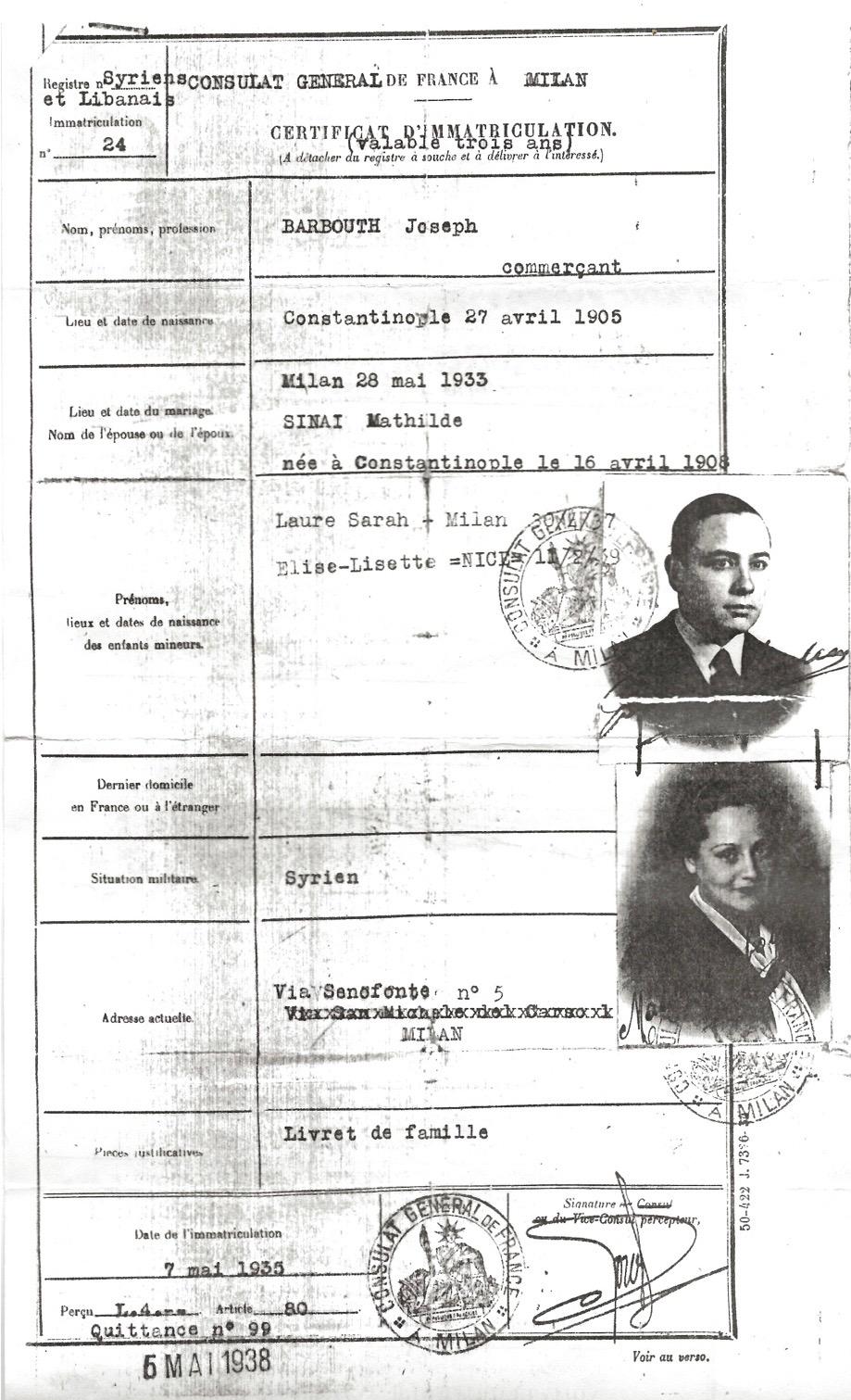CERTIFICATS 1935