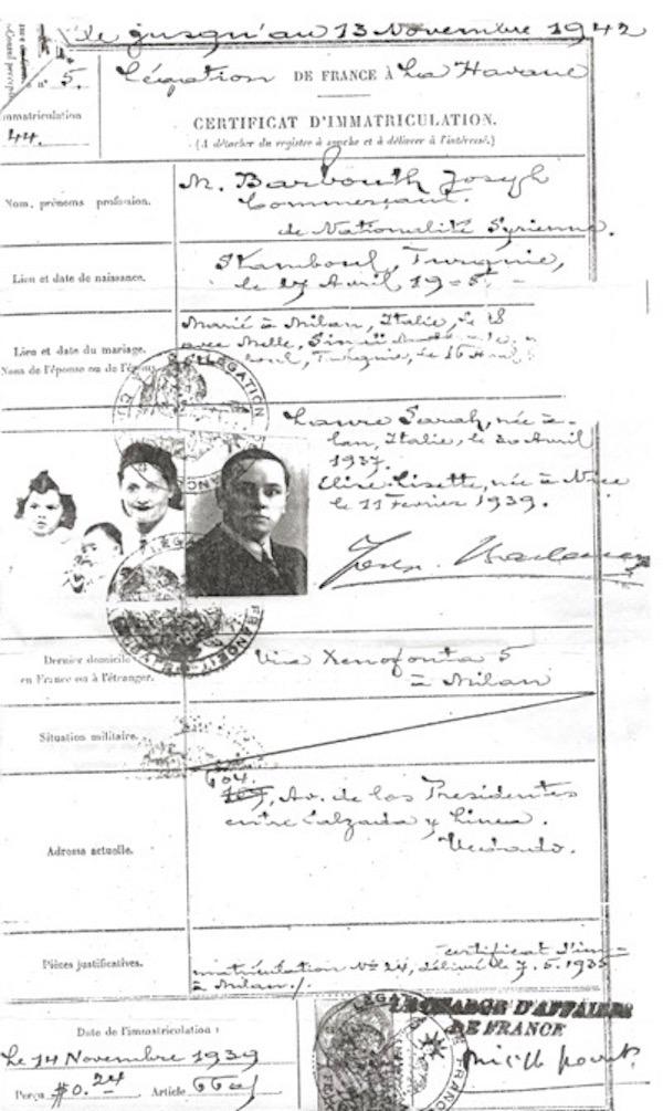 Renewed Certificates in Havana - 1949