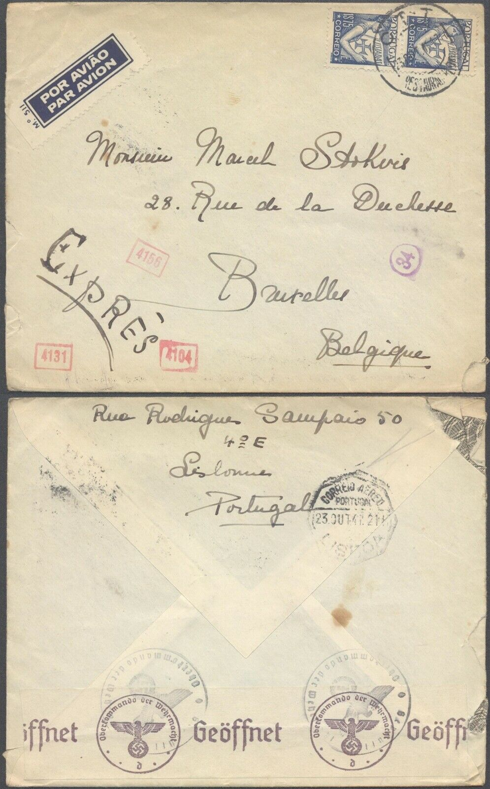 Letter from Portugal to Brussels