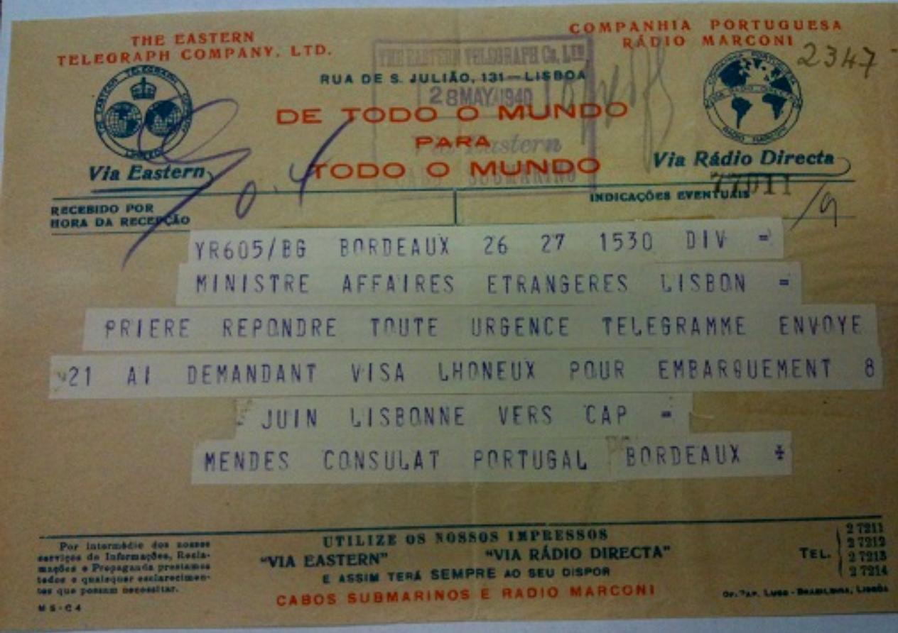 Lhoneux telegram